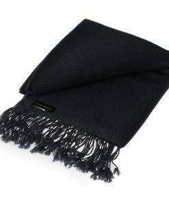 Pashmina Shawl - 90x200cm - 100% Cashmere - Black