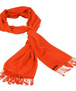Pashminasjal - 90x200cm - 100% Cashmere - Spicy Orange