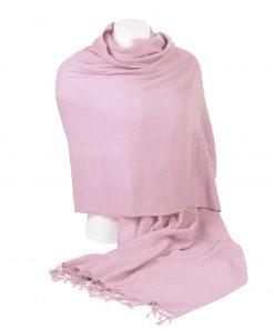 Pashminasjal - 90x200cm - 100% Cashmere - Pink Lady