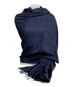 Pashminasjal - 90x200cm - 100% Cashmere - Nightshadow Blue