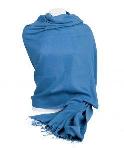 Pashminasjal - 90x200cm - 100% Cashmere - Parisian Blue