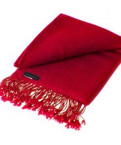 Pashmina Shawl - 90x200cm - 100% Cashmere - Rio Red