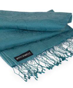 Jacquard Water Pashmina - 70x200cm - 80% Cashmere / 20% Silk - North Sea