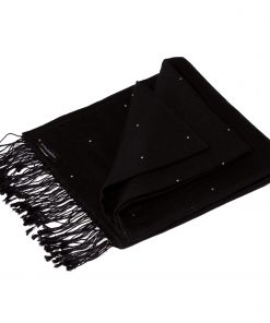 Swarovski Crystals Pashmina Stole - 70x200cm - 70% Cashmere / 30% Silk -  Black