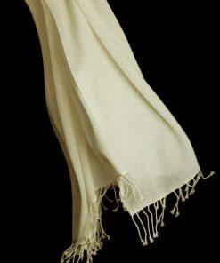 Pashmina Ring Shawl - 90x200cm - 100% Cashmere - Winter White