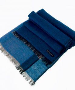 Pashmina - Superfine100count - 100% Cashmere - 50x180cm - Strong Blue