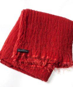 Angelweave Pashmina - 90% Cashmere / 10% Silk - 55x200cm - Pompeian Red