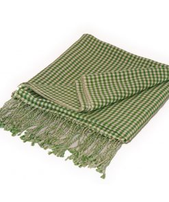 Gingham Stole- 70% Cashmere/30% Silk - 70x200cm - Willow Bough
