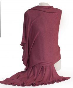 Frilled Edge Shawl - 50% Cashmere / 50% Silk - 70x200cm - Dry Rose mp127