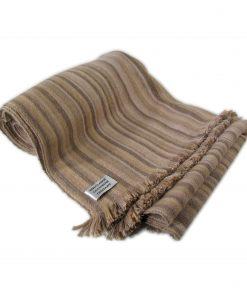 Medium Stripes 28/2 Heavyweight - 50cmx203cm - 100% Cashmere - Natural/Buff Combo