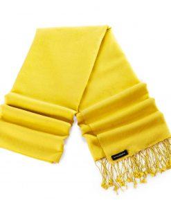 Pashminasjal - 70x200cm - 70% Cashmere / 30% Silke - Daffodil