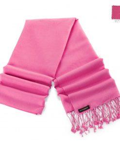 Pashminasjal - 70x200cm - 70% Cashmere / 30% Silke - Hot Pink