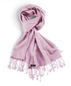 Pashminasjal - 70x200cm - 70% Cashmere / 30% Silke - Pink Lady