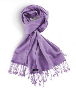 Pashminasjal - 70x200cm - 70% Cashmere / 30% Silke - Purple Haze
