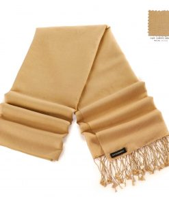 Pashminasjal - 70x200cm - 70% Cashmere / 30% Silke - Candied Ginger