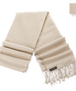 Pashminasjal - 70x200cm - 70% Cashmere / 30% Silke - Sand Shell