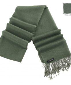 Pashminasjal - 70x200cm - 70% Cashmere / 30% Silke - Duck Green