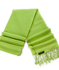 Pashminasjal - 70x200cm - 70% Cashmere / 30% Silke - Bright Chartreuse