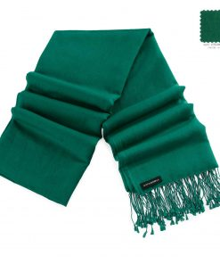 Pashminasjal - 70x200cm - 70% Cashmere / 30% Silke - Verdant Green