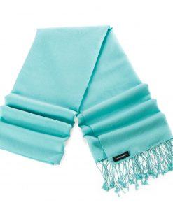 Pashminasjal - 70x200cm - 70% Cashmere / 30% Silke - Eggshell Blue