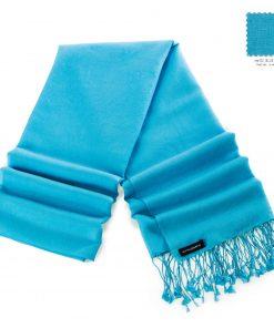 Pashminasjal - 70x200cm - 70% Cashmere / 30% Silke - Blue Mist