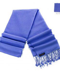 Pashminasjal - 70x200cm - 70% Cashmere / 30% Silke - Blue Iris