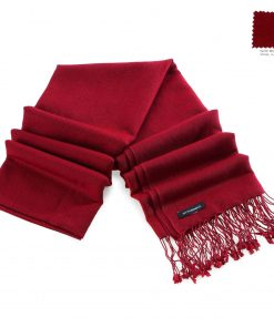 Pashminasjal - 70x200cm - 70% Cashmere / 30% Silke - Rio Red