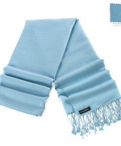 Pashminasjal - 70x200cm - 70% Cashmere / 30% Silke - Milky Blue
