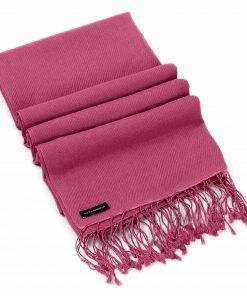 Pashminasjal - 90x200cm - 70% Cashmere / 30% Silke - Red Violet