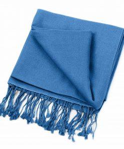 Pashminasjal - 90x200cm - 70% Cashmere / 30% Silke - Parisian Blue